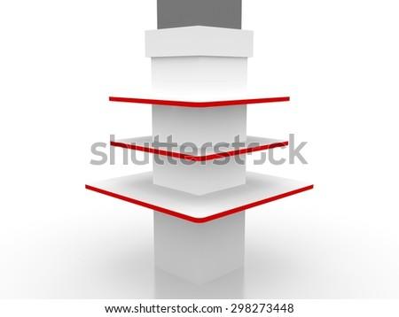 shelving - stock photo