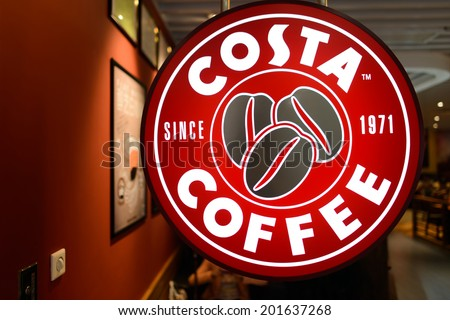 SHENZHEN - APRIL 15: Costa cafe on April 15, 2014 in Shenzhen, China. Costa Coffee is a British multinational coffeehouse company headquartered in Dunstable, United Kingdom