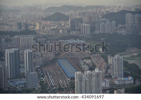 Shenzhen, China - May 29, 2016 : Shenzhen is a major city in Guangdong Province, China.