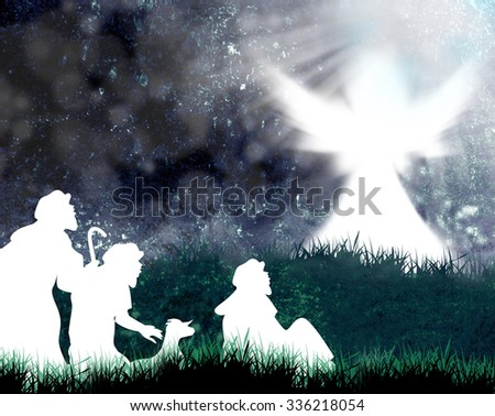 Christmas Shepherds Images RoyaltyFree Images Vectors – Who Announced the Birth of Jesus