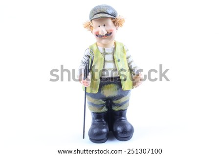 Shepherds - puppets handmade, isolated and with clipping path