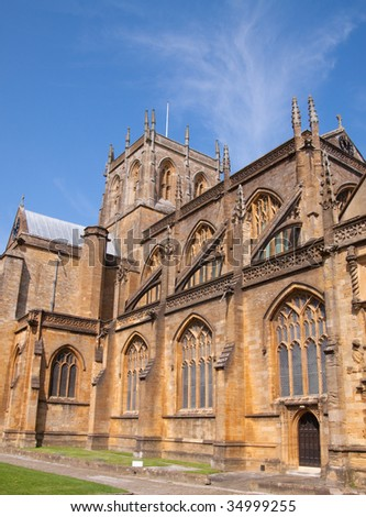 Sherborne Abbey founded by St. Aldhelm in AD 705