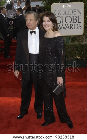 SHERRY LANSING & husband WILLIAM FRIEDKIN at the Golden Globe Awards at the Beverly Hills Hilton Hotel. 19JAN2003.  Paul Smith / Featureflash - stock photo