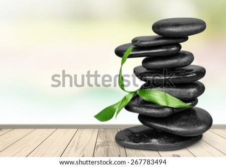Shiatsu, Stone, Foot Massage. - stock photo