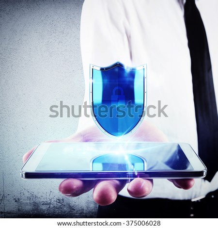 Shield for phone - stock photo