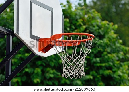 Shield for streetball - stock photo