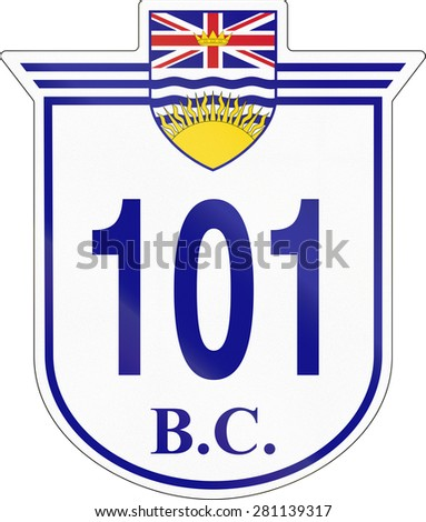 Shield for the British Columbia Highway number 101.