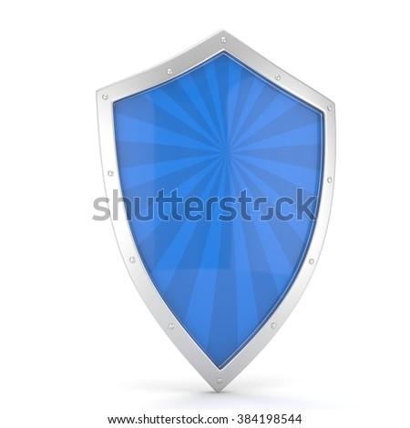 shield icon on white - stock photo
