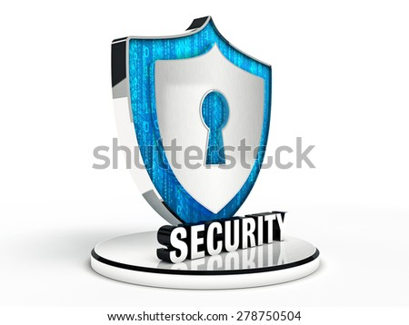 Shield security - stock photo