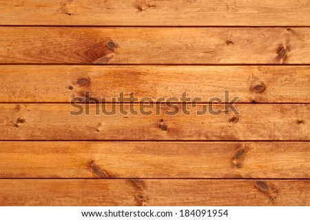 Shield with new parallel wooden lacquered whiteboard - stock photo