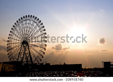 shilouete of big wheel