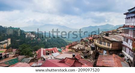 Shimla town in India - stock photo