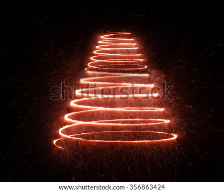 Shimmering blur background with shining lights, light spot, spiral lights, - stock photo