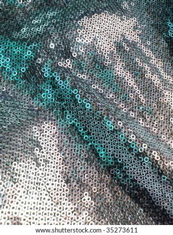 Shimmering textile closeup - stock photo