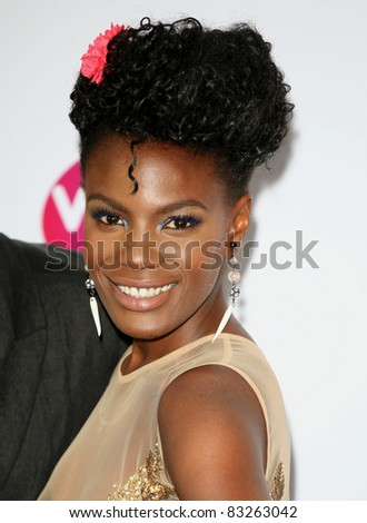 Shingai Soniwa arriving for the Pre Wimbledon Party, Kensington Roof Gardens, London. 16/07/2011  Picture by: Alexandra Glen / Featureflash