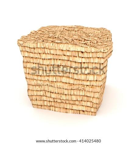 shingle covered cube - 3D illustration - stock photo