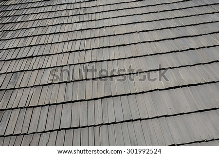 Shingled roof
