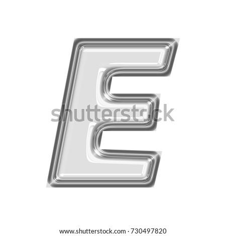 Shining chrome uppercase capital letter e stock illustration shining chrome uppercase or capital letter e in a 3d illustration with a shiny silver smooth spiritdancerdesigns Choice Image