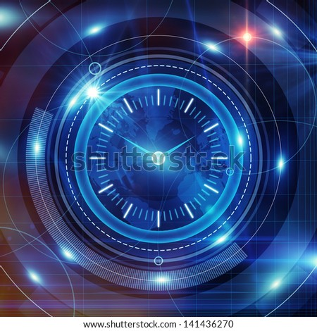 shining clock interface