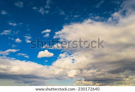 Shining Day Summer Heavens  - stock photo