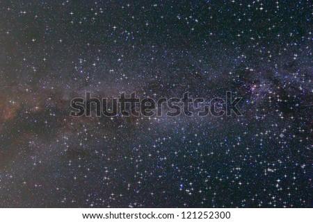 shining night starry sky - stock photo