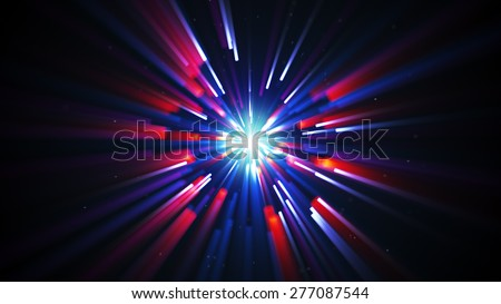 shining radial lights. computer generated abstract background - stock photo
