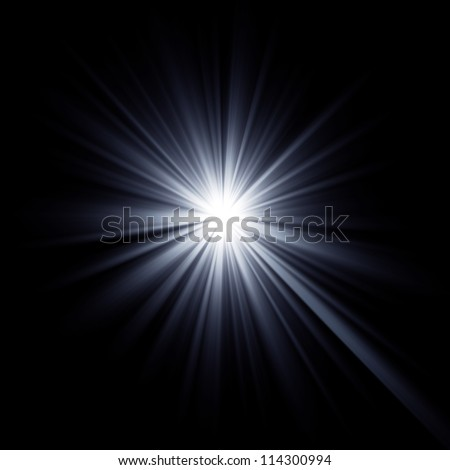Shining star bursting with beams. Explosion rays light optical effect. - stock photo
