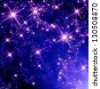 Shining stars in the space - stock photo