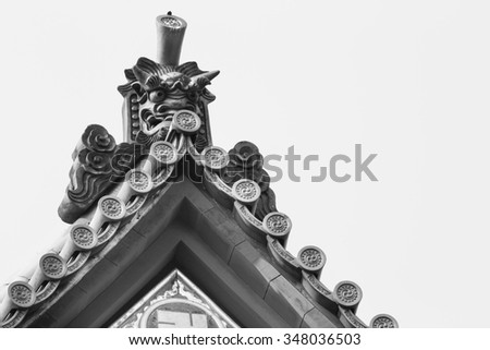 Shinto temple roof