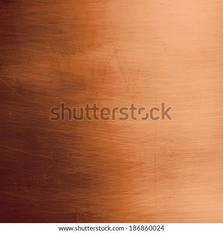 Shiny bronze metallic plate  - stock photo