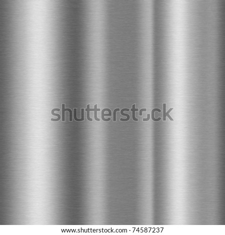 shiny brushed aluminum texture background - stock photo
