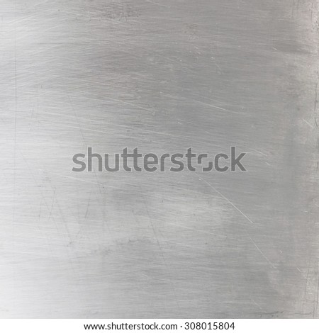 Shiny brushed silver metallic surface - stock photo