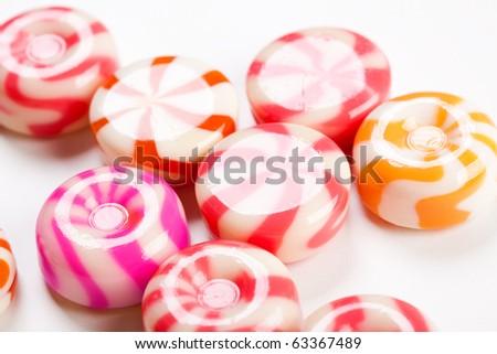 shiny caramel candies - stock photo