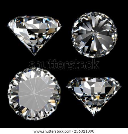 Shiny diamond collection - stock photo