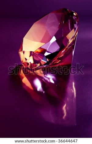 shiny diamond on purple light