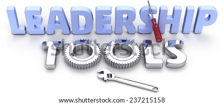 Shiny effective powerful new tool set for business IT management leadership - stock photo