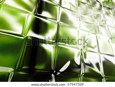 Shiny glass wall in perspective - stock photo