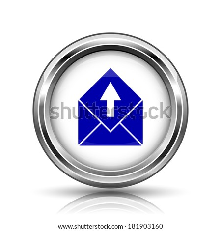 Shiny glossy icon - internet metallic button