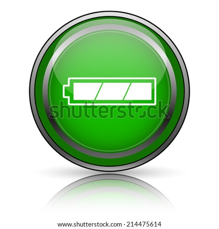 Shiny glossy icon on white background - stock photo