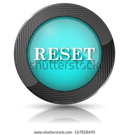 Shiny glossy icon with white design on aqua background - stock photo