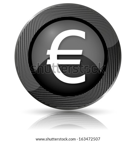 Shiny glossy icon with white design on black background