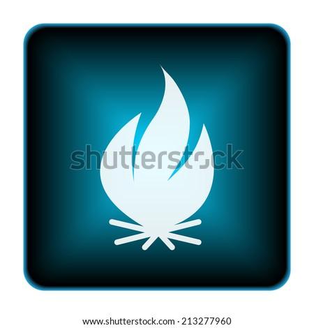 Shiny glowing icon on white background. - stock photo
