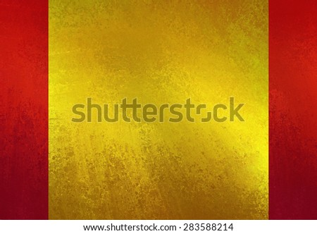 shiny gold textured paper on red background layout - stock photo