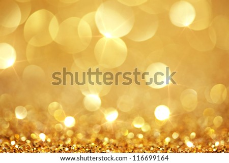 Shiny golden lights - stock photo