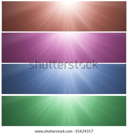 Shiny Header Banners - stock photo