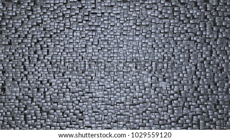 Shiny metal cube background. Orderly , even dispersal pattern. 3d render.
