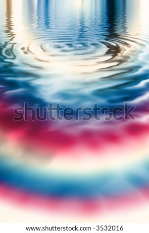 Shiny metallic red white and blue pool with ripples - stock photo