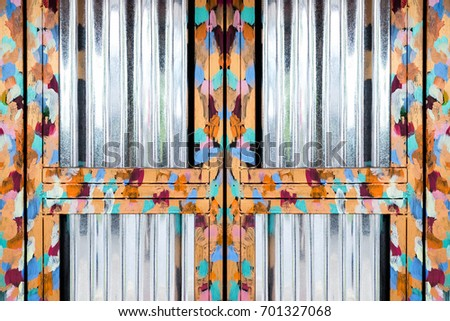 Shiny oil painting steel door frame at shop entrance  vintage fashionable  design Iron Cross Door Stock Images  Royalty Free Images   Vectors  . Painting Steel Door Frames. Home Design Ideas