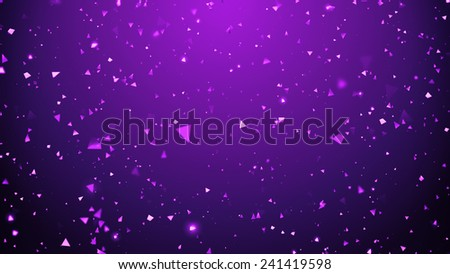 shiny reflective triangle particle backgound - stock photo