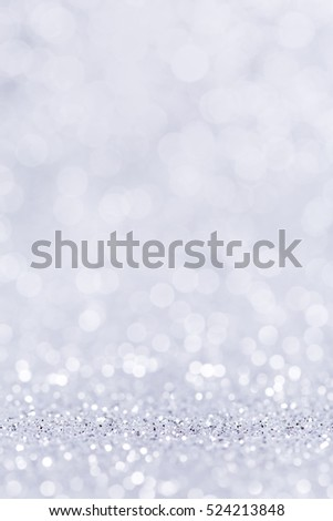 Shiny silver background. Abstract holiday decoration